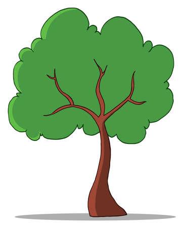 Cartoon Tree Illustration