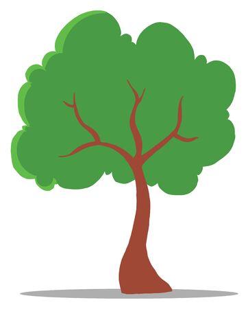 Green Tree Cartoon Illustration Stock Vector - 9398424