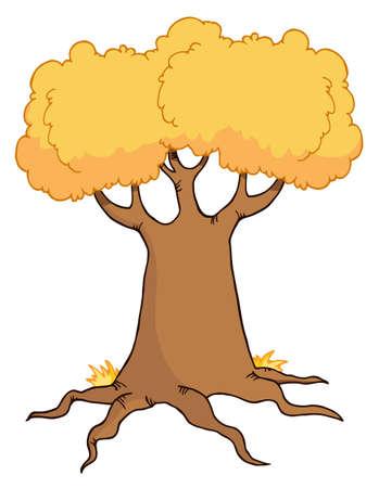 Big Cartoon Autumn Tree