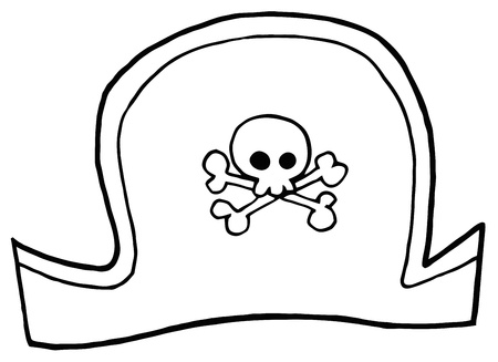 pirate hat: Outlined Pirate Hat