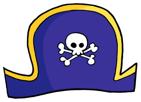 pirate hat: Pirate Hat On A White Background  Illustration