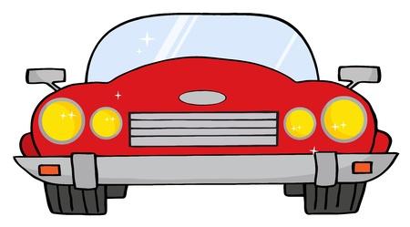convertible car: Auto Convertible rojo