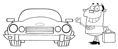 convertible car: Empresario de contorno Y Auto Convertible