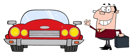 convertible car: Empresario de cercan�as Y Auto Convertible