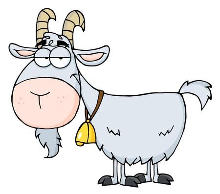 cabras: Personaje de dibujos animados de cabra  Vectores
