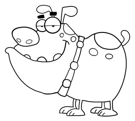 Beschriebenen Hund Cartoon-Figur Standard-Bild - 9681575