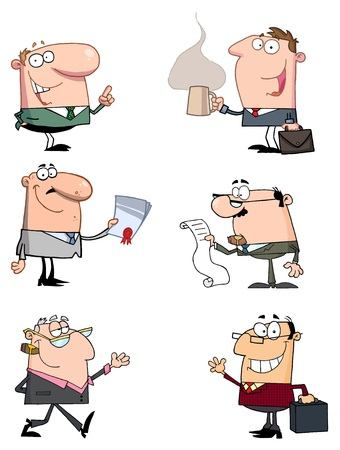 raster: Businessmen Cartoon Characters Raster Collection