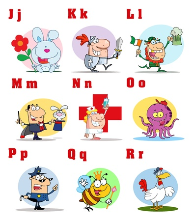 Joyful Cartoon Alphabet Collection 2  Vector