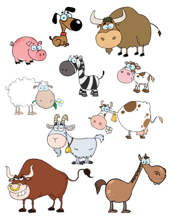 Cartoon Animals Raster Collection  Vector
