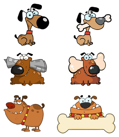 Cartoon Dogs Raster Collection