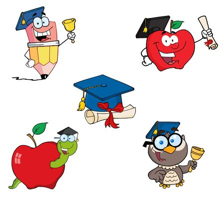 Graduation-Vector Collection Stock Vector - 9789437