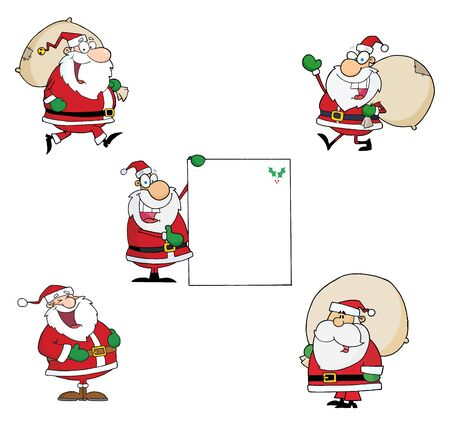 santa clause hat: Santa Claus-Vector Collection  Illustration