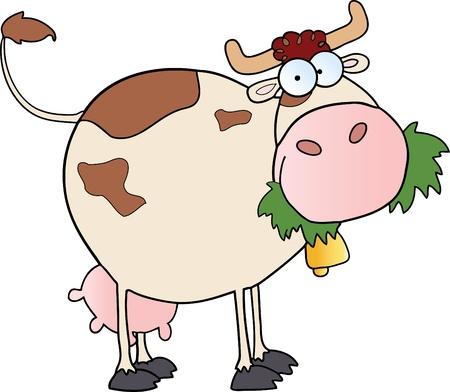 Farm Dairy Cow Cartoon Character Stock Vector - 9789470