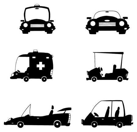 Black Cars Vector