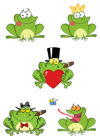 Cartoon Frogs Stock Vector - 9901633