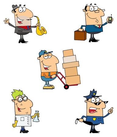 diferentes profesiones: Personas de diferentes profesiones
