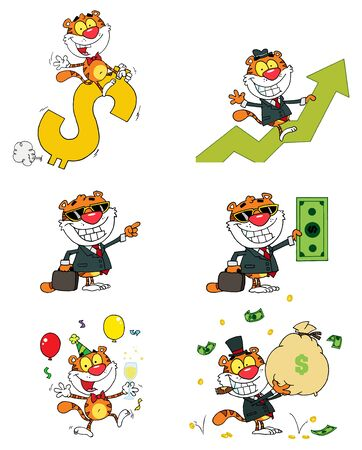 Tiger Cartoon Characters Stock Vector - 9901673