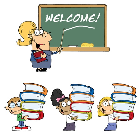 stock clipart icons: Welcome To School