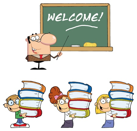 Welcome To School 3- Collection Vector