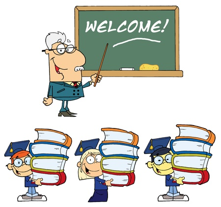 Welcome To School 2- Collection Vector