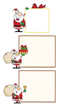 Santa Claus .Vector Collection  Stock Vector - 9947778