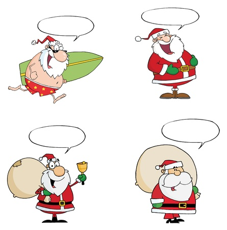philanthropist: HappySanta Claus Waving A Greeting.Vector  Collection