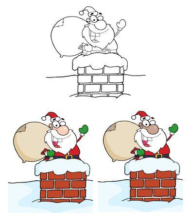 산타 클로스 인사말입니다. 벡터 컬렉션