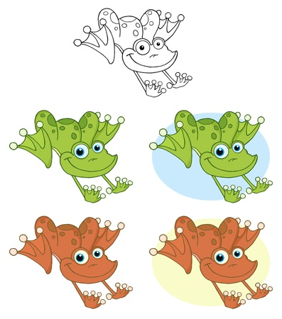 Frog Hopping.Raster Collection Vector