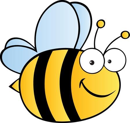 abeja reina: Abeja linda de la historieta Vectores