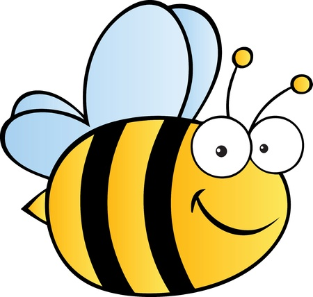 queen bee: Abeja linda de la historieta Vectores