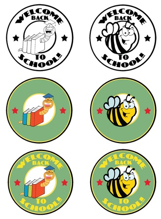 Cartoon School Banners Vector