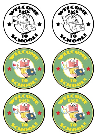 Cartoon School Banners-potlood Guy