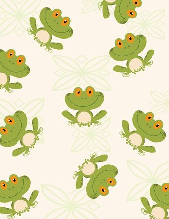 Seamless Pattern Tree Frog  Vector