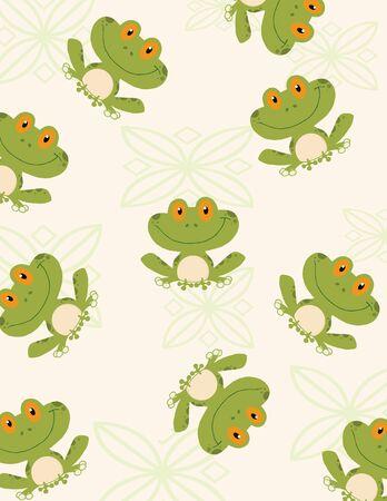 cute frog: Seamless Pattern Tree Frog