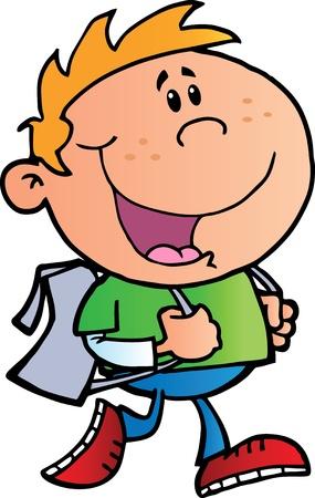 Wandelen School Boy