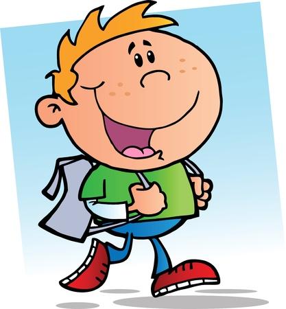 Happy School Boy Stock Vector - 10173878