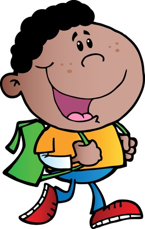 Afro-Amerikaanse School Boy