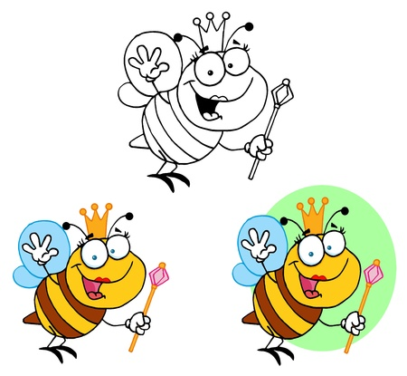 Friendly Queen Bee  Vector