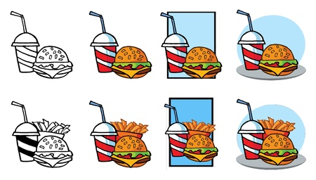 Fast Food Stock Vector - 10260652