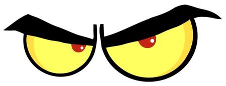 persona enojada: Enojado Ojos de dibujos animados
