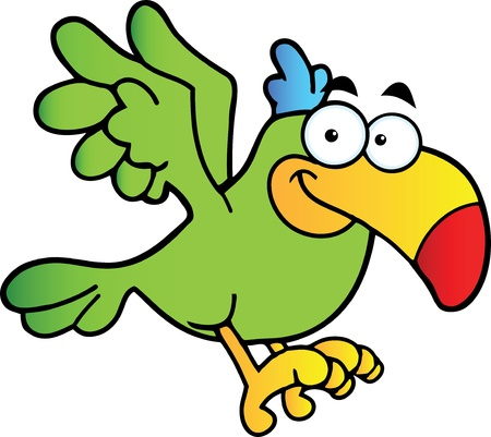 vocabulary: Parrot Cartoon Character Flying