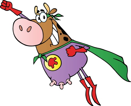Hero Koe Fly Stock Illustratie