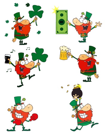 Happy Leprechauns.Vector Collection Vector