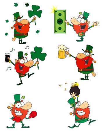 Happy Leprechauns.Vector Collection Stock Vector - 11912568