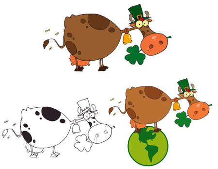 St Patricks Day Cow.Vector Collection Vector