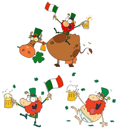 Happy Leprechauns.Vector Collection Stock Vector - 11912560