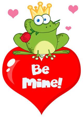 the frog prince: Frog Prince su un cuore rosso