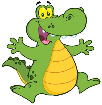 Alligator Jumping 일러스트