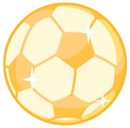 Gold Soccer Ball Vector
