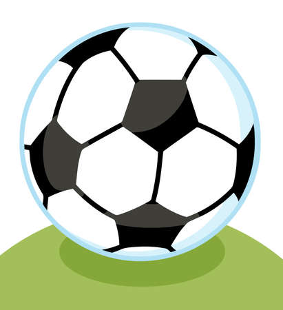 Soccer Ball In Grass Vector